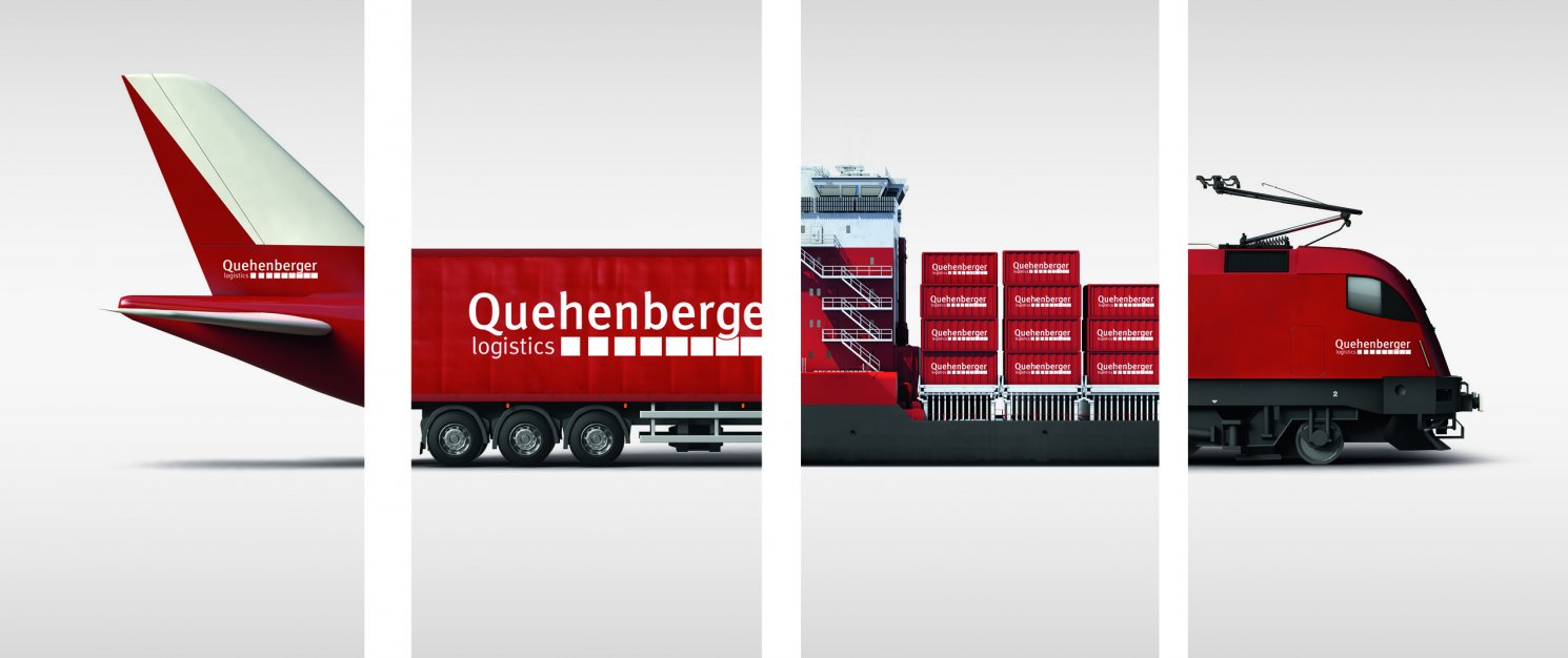 Collage of the various transport options at Quehenberger Logistics.