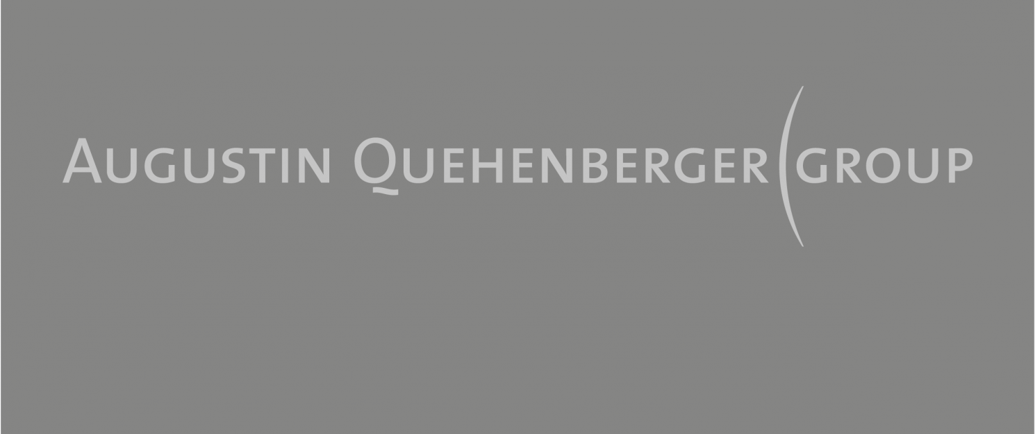 """Augustin Quehenberger Group"" written on a grey background."